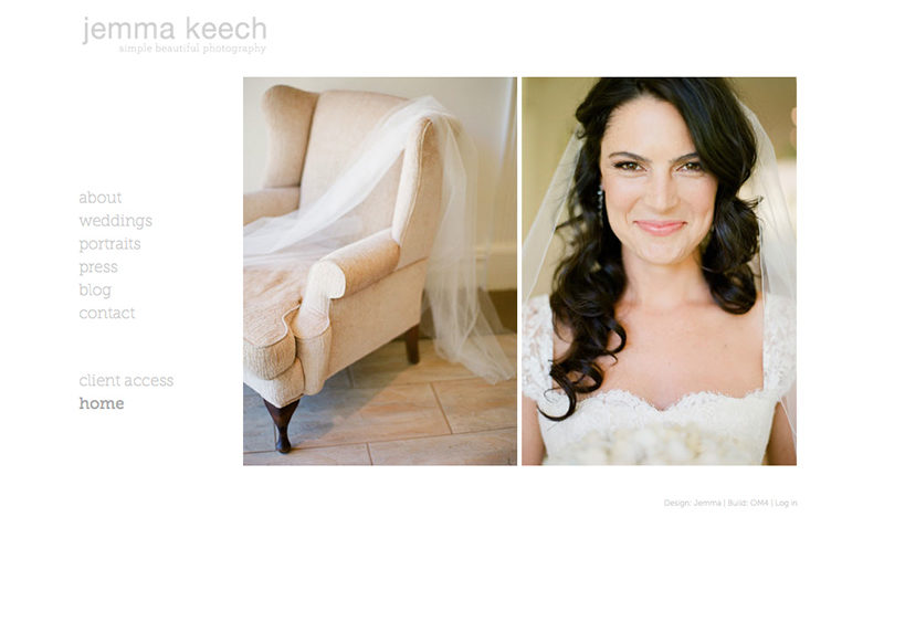 Jemma Keech Photography Website Home