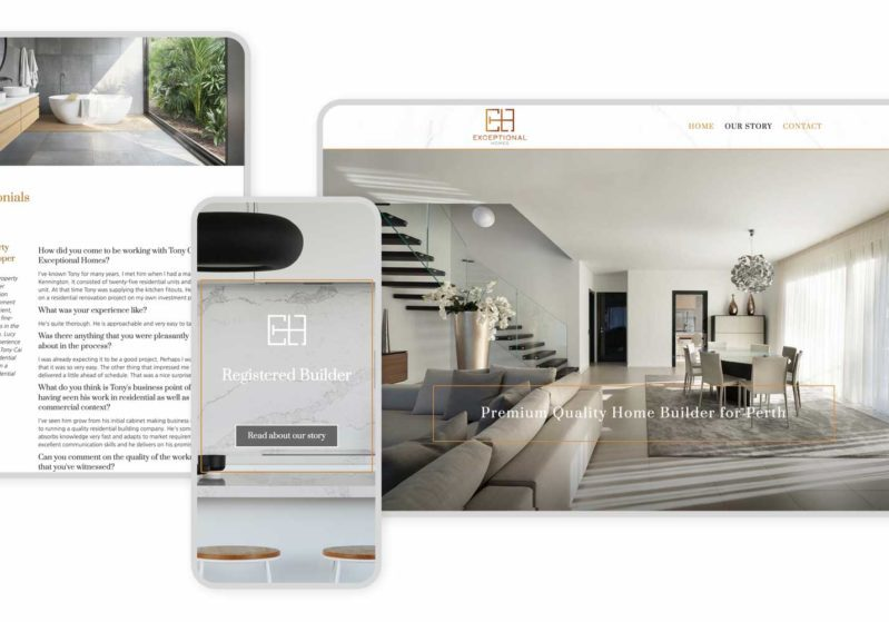 Responsive Graphic Exceptional Homes