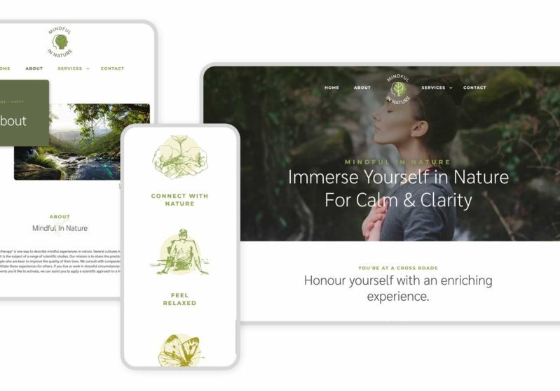 Responsive Graphic Mindful In Nature