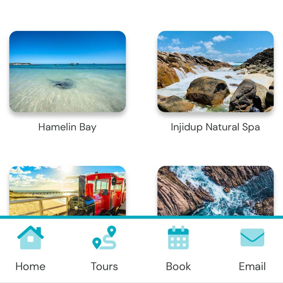 Ziyarah Tours Mobile App Menu
