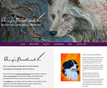 Gerry's Paintbrush: Home Page