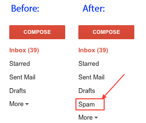 Google Mail's Spam Folder