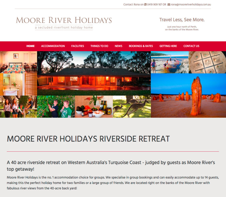 Moore River Holidays Home Page