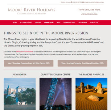 Moore River Holidays Things to Do Page