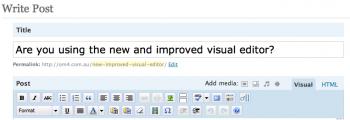 Wordpress New Improved Visual Editor