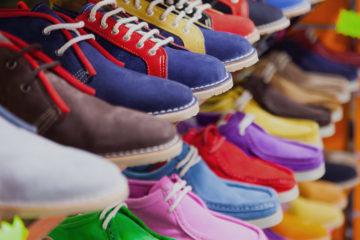 sport shoes at fashionable shop